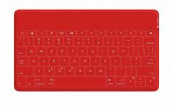Logitech Keys-To-Go Tastatur für iPad & Android AZERTY LAYOUT ROT -007812 FR NEU